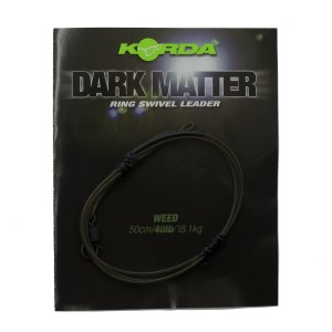 Готовый монтаж Korda Dark Matter Leader # 8 Ring Swivel 50 cm Weed 40 lb