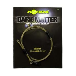 Готовый монтаж Korda Dark Matter Leader # 8 Ring Swivel 50 cm Gravel 40 lb