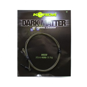 Готовый монтаж Korda Dark Matter Leader QC Swivel 50 cm Weed 40 lb