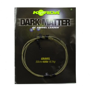 Готовый монтаж Korda Dark Matter Leader QC Swivel 50 cm Gravel 40 lb
