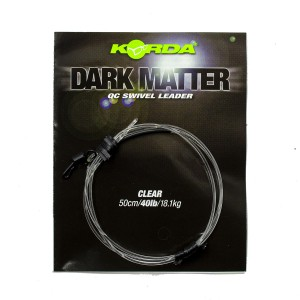 Готовый монтаж Korda Dark Matter Leader QC Swivel 50 cm Clear 40 lb