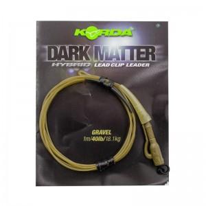 Готовый монтаж Korda Dark Matter Leader Hybrid Lead Clip Gravel Khaki 40lb 1м