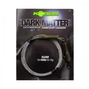 Готовый монтаж Korda Dark Matter Leader Hybrid Lead Clip Clear 40lb 1м