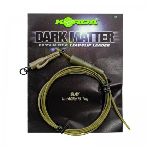 Готовый монтаж Korda Dark Matter Leader Hybrid Lead Clip Clay Brown 40lb 1м