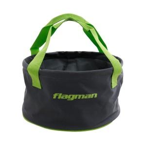 Мягкое ведро Flagman для замеса прикормки 440-03011 30x17см