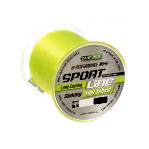 Леска Carp Pro Sport Line Fluo Yellow 1000м 0.205мм
