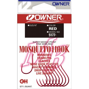 OWNER Крючок Mosquito Hook red №2 9шт