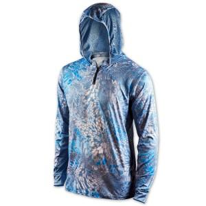 VEDUTA Худи Air серия UPF50+ Reptile Skin Blue 2XL мужская