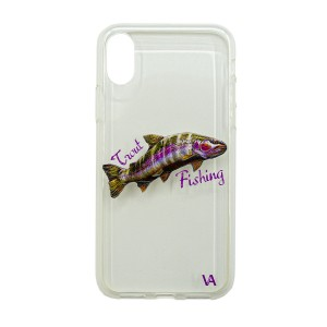 Чехол силиконовый Veduta iPhone X Trout Fishing