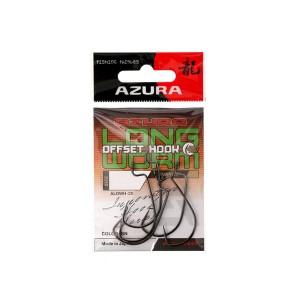 Крючки Azura Long Offset Worm Hook №1