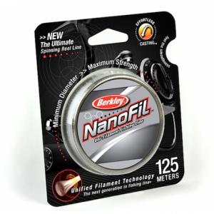 BERKLEY Шнур Nanofil 125м полупрорачный 0,15мм 7,6кг Nebel-Transparent