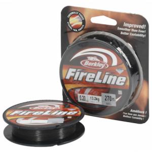 BERKLEY Шнур плетеный Fireline Fused Original 110м темносерый 0,10мм 5,9кг Smoke