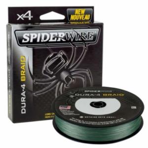 SPIDERWIRE Шнур плетеный Х4 Dura Braid 150м темнозеленый 0,20мм 17,0кг 37lb