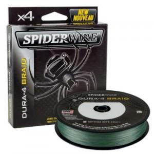 SPIDERWIRE Шнур плетеный Х4 Dura Braid 300м темнозеленый 0,14мм 11,8кг 26lb