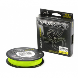 SPIDERWIRE Шнур плетеный Х4 Dura Braid 300м яркожелтый 0,10мм 9,1кг 20lb Yel