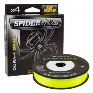 SPIDERWIRE Шнур плетеный Х4 Dura Braid 300м яркожелтый 0,35мм 35,0кг 77lb Yel