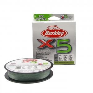 BERKLEY Шнур плетеный X5 150м темнозеленый 0,06мм 6,4кг