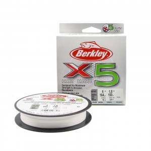 BERKLEY Шнур плетеный X5 150м полупрозрачный 0,12мм 12,1кг