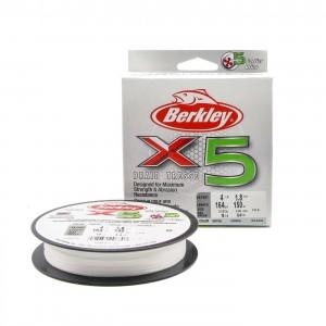 BERKLEY Шнур плетеный X5 150м полупрозрачный 0,17мм 17,0кг