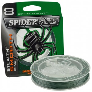 SPIDERWIRE Шнур плетеный Х8 Braid Stealth Smooth 150м темнозеленый 0,13мм 8,7кг