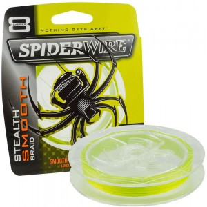 SPIDERWIRE Шнур плетеный Х8 Braid Stealth Smooth 150м яркожелтый 0,15мм 16,5кг