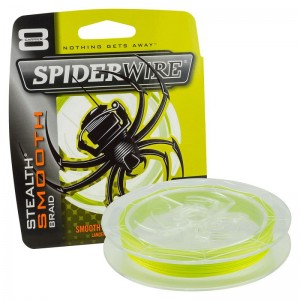 SPIDERWIRE Шнур плетеный Х8 Braid Stealth Smooth 150м яркожелтый 0,29мм 26,4кг