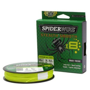 SPIDERWIRE Шнур плетеный Х8 Braid Stealth Smooth 150м яркожелтый 0,33мм 38,1кг