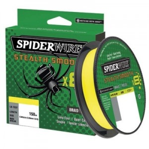 SPIDERWIRE Шнур плетеный Х8 Braid Stealth Smooth 150м яркожелтый 0,39мм 46,3кг