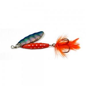 ABU GARCIA Блесна вращающаяся Reflex Red 18г S/Blue Flash