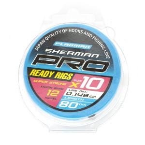 Готовые поводки Flagman SHERMAN PRO SUPER STRONG READY RIG 0,148mm,#12, 80cm